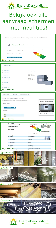 Energielabel aanvragen ? Bekijk hier alle schermen met heldere uitleg en slimme tips!