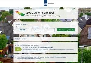 Zoek energielabel: resultaat toont een voorlopig woning energielabel.