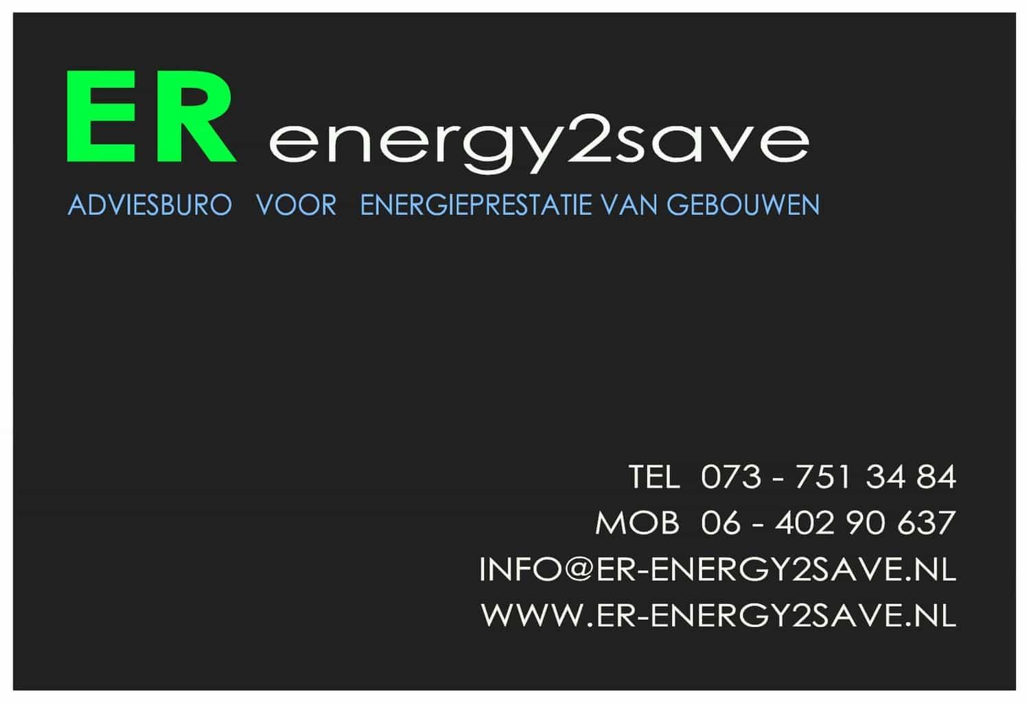 ER e2s - Visitekaart, voorzijde