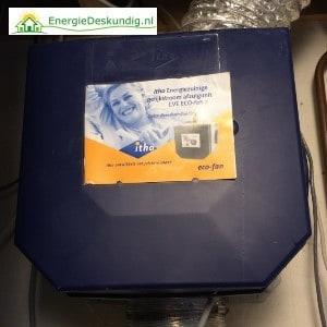 Type ventilatiesysteem toevoegen